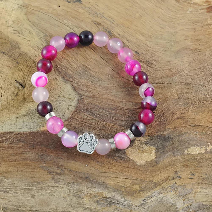 Armband 'DogLove' | Mala Perle Achat pink-rosa - KENSONS for dogs