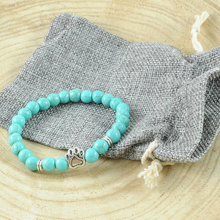 Armband 'DogLove' | Mala Perle Howlith türkis - KENSONS for dogs