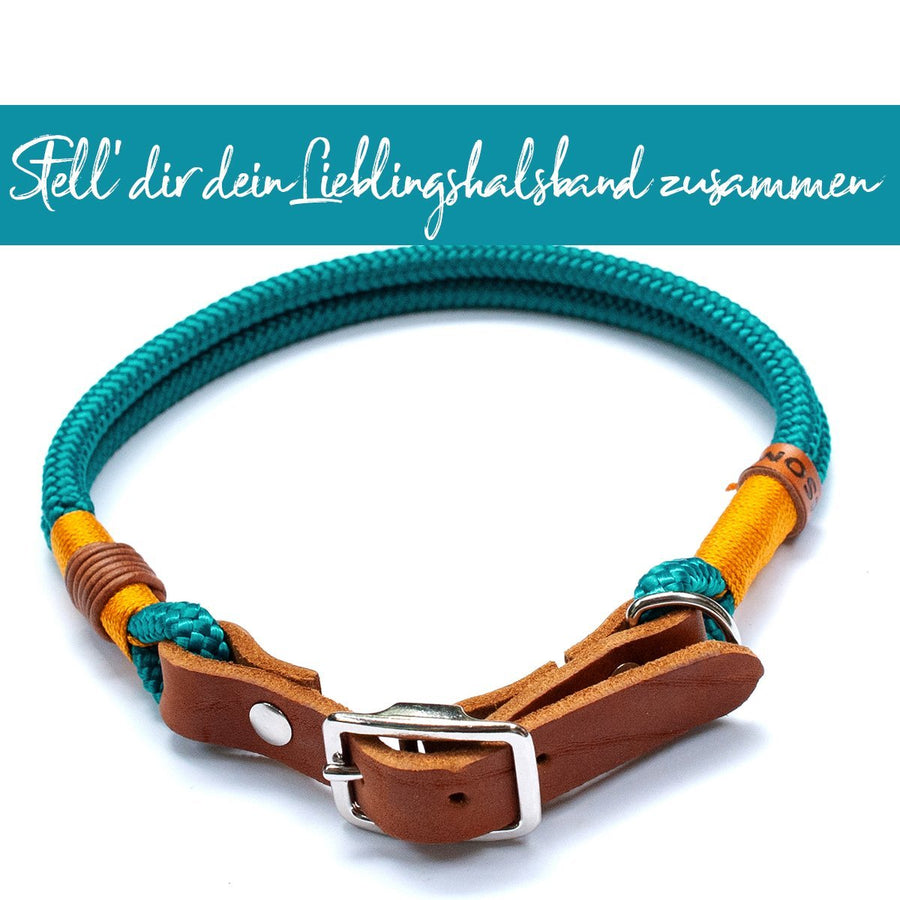Halsband 'Lieblingsteil' mit Leder-Adapter | Ø 8mm - KENSONS for dogs