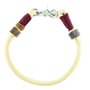 Halsband 'Zum Verlieben' in beige-bordeaux | Ø 10mm - KENSONS for dogs
