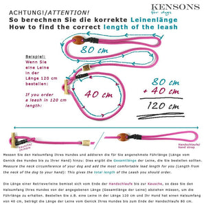 Retrieverleine 6mm Elegant | Neon-Grün-Schwarze Koalition - KENSONS for dogs