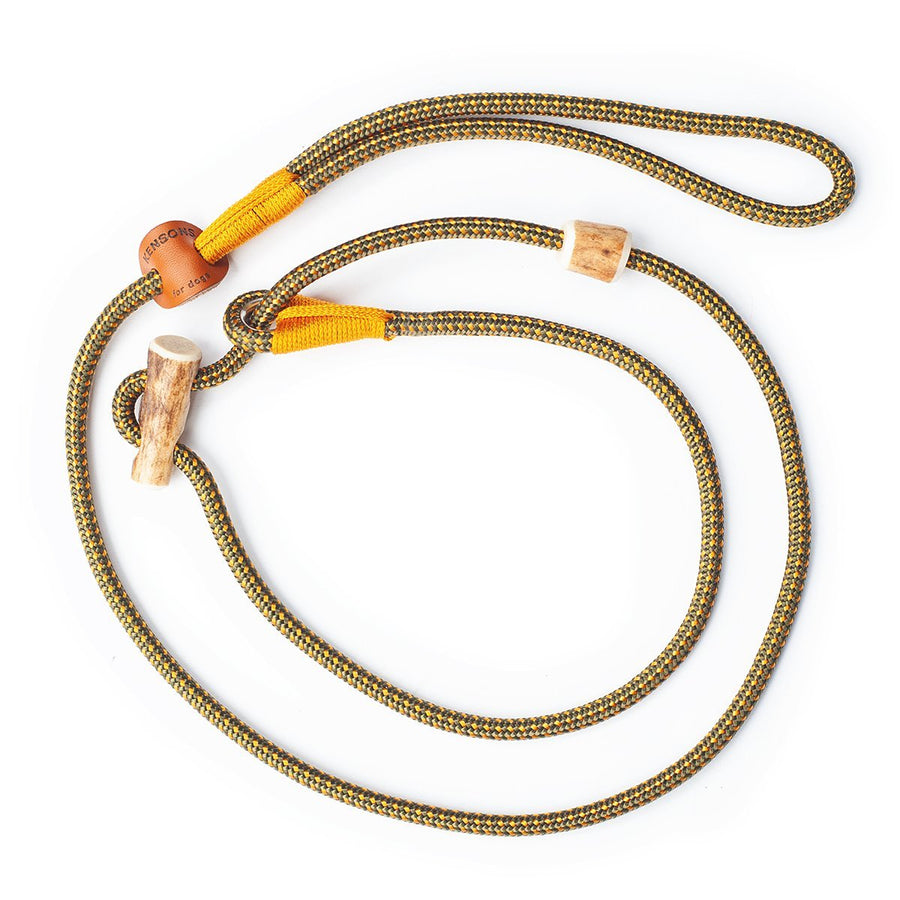 Retrieverleine 6mm Elegant | Oliv-Gold-Gelb - die Nr. 1! - KENSONS for dogs