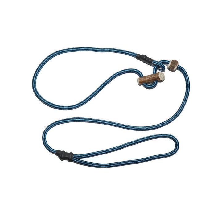 Retrieverleine 6mm Sporty | Schwarz-Blau gestreift - KENSONS for dogs