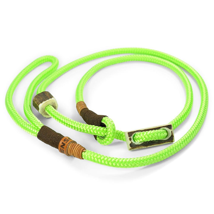 Retrieverleine 8mm Elegant | Back to the 80s' Neon-Grün - KENSONS for dogs