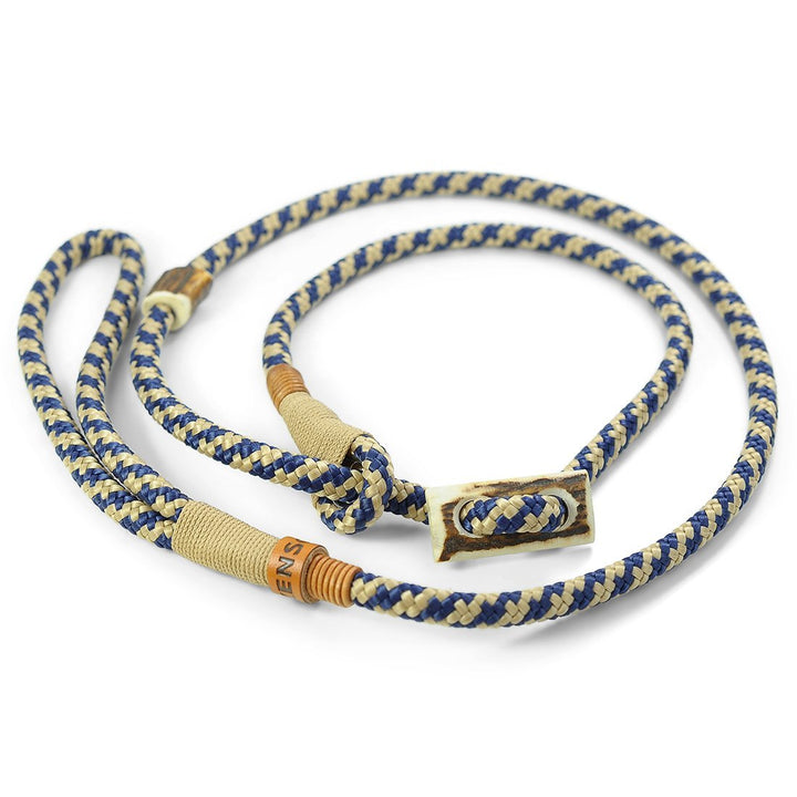 Retrieverleine 8mm Elegant | Fesche Kombination von Blau & Beige - KENSONS for dogs