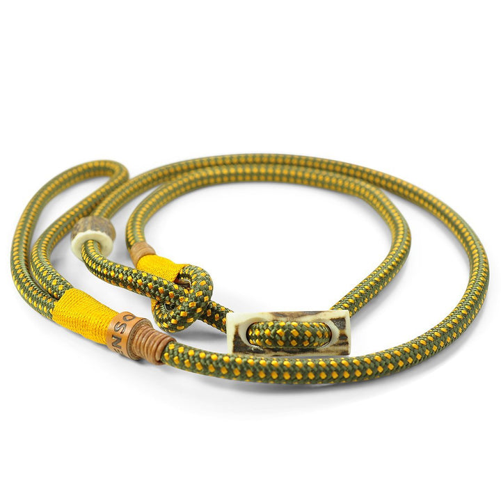 Retrieverleine 8mm Elegant | Oliviges-Goldgelb - KENSONS for dogs