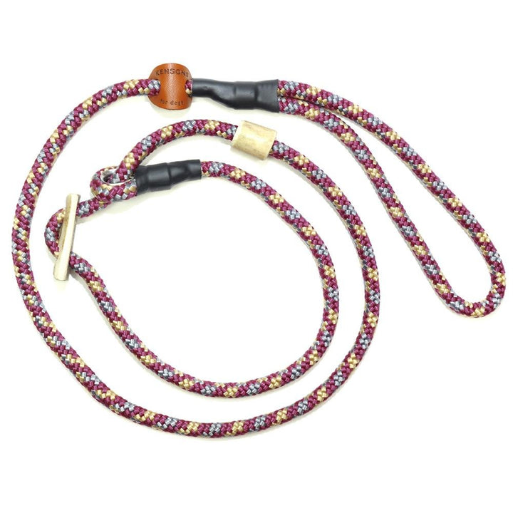 Retrieverleine 8mm Sporty | Bordeaux-Beige-Grau-Trilogie - KENSONS for dogs