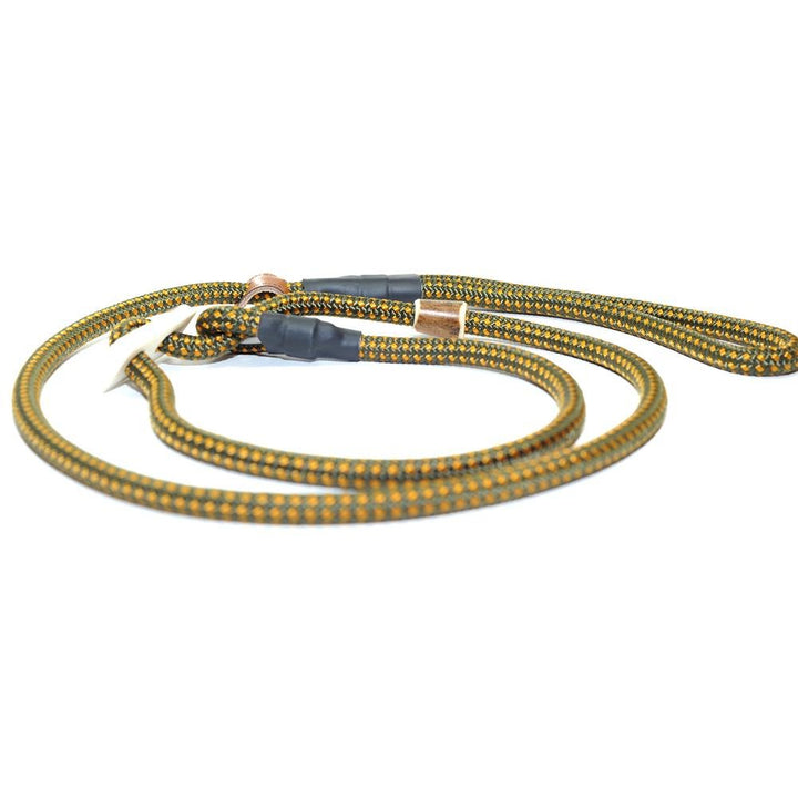 Retrieverleine 8mm Sporty | Goldgelb-Oliv - KENSONS for dogs