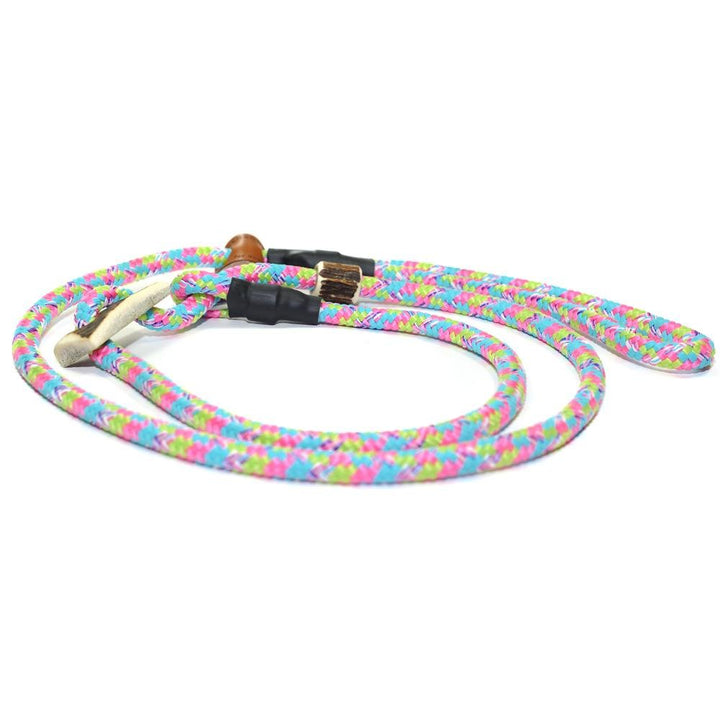 Retrieverleine 8mm Sporty | Rosa-Blau-Grün-Bunte Ablenkung - KENSONS for dogs
