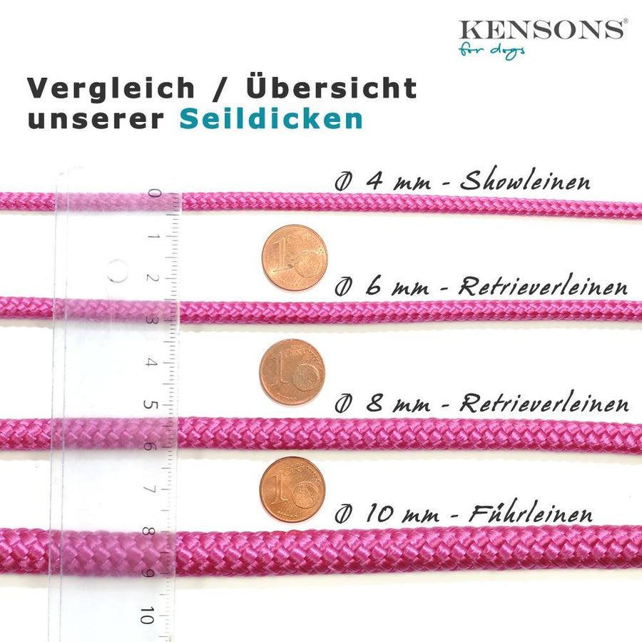 Retrieverleine 8mm Sporty | Wundertolles Blau-Beige - KENSONS for dogs