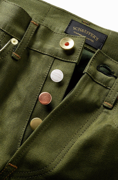 Green Selvedge Denim - Standard Slim