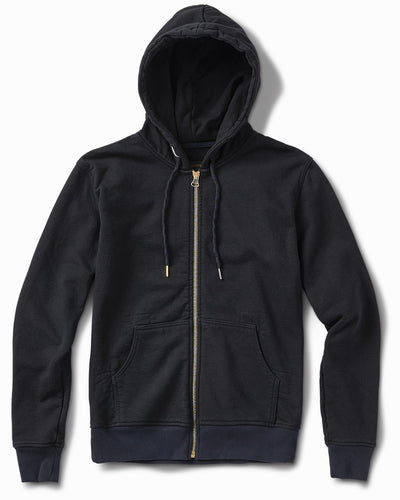 25oz French Terry Sulphur Black Hoodie