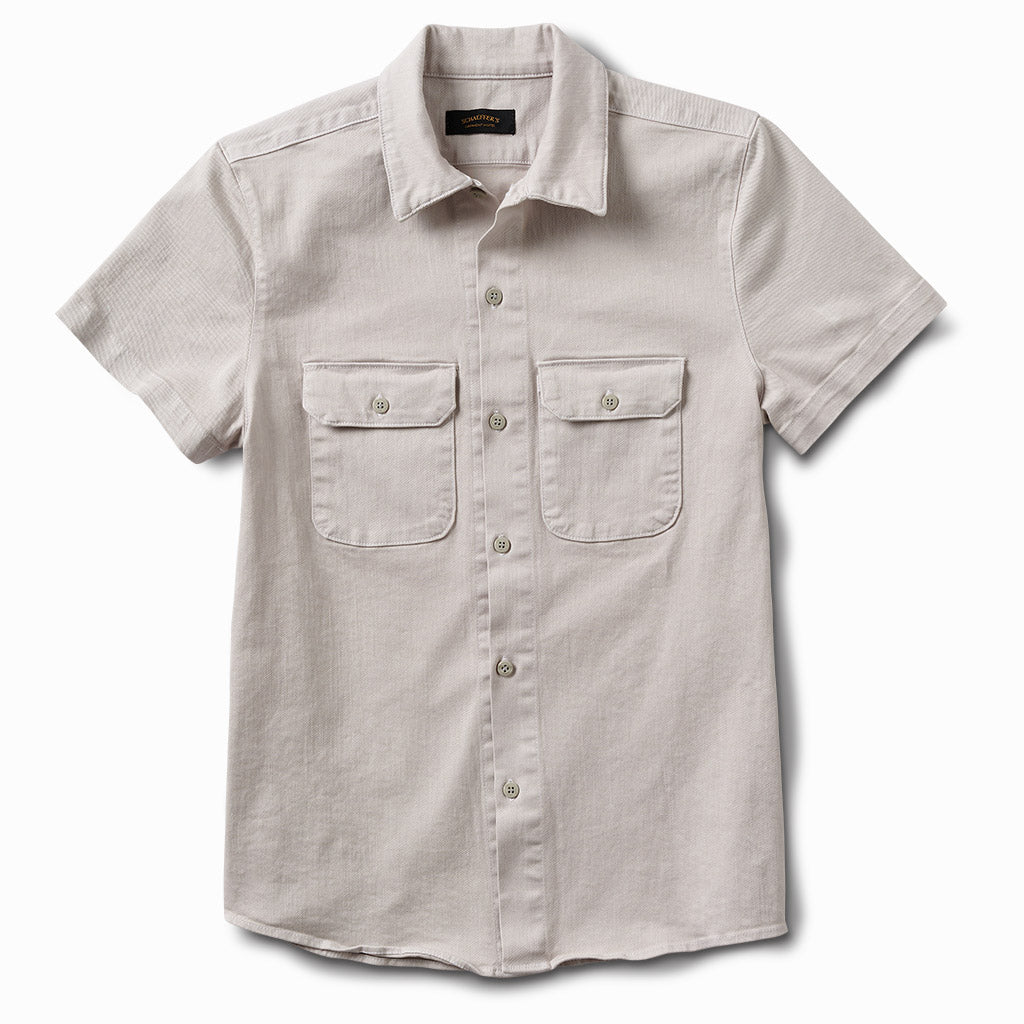 Gas Station Twill Button Down Grey