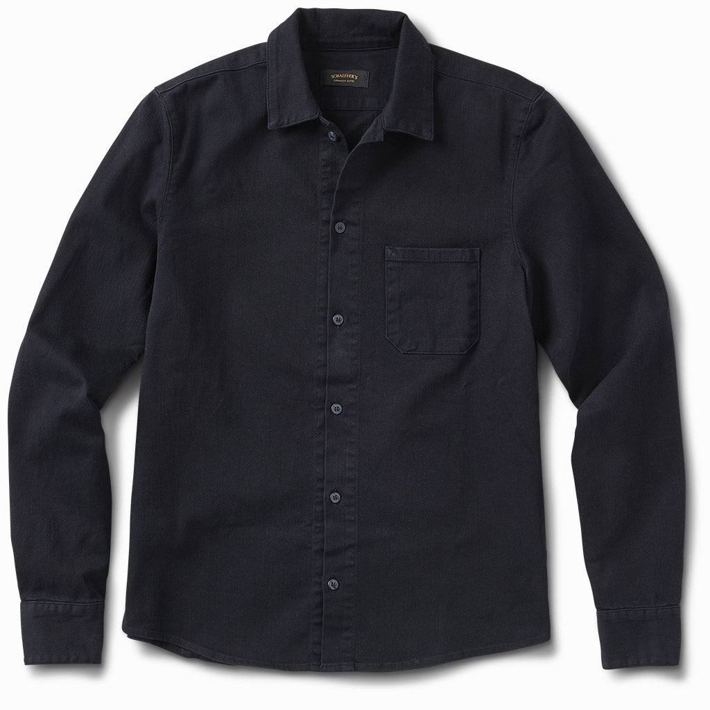 Gas Station Twill Button Down Indigo
