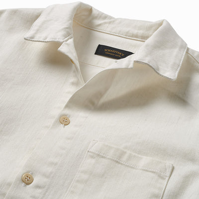 Gas Station Twill Button Down Off-White