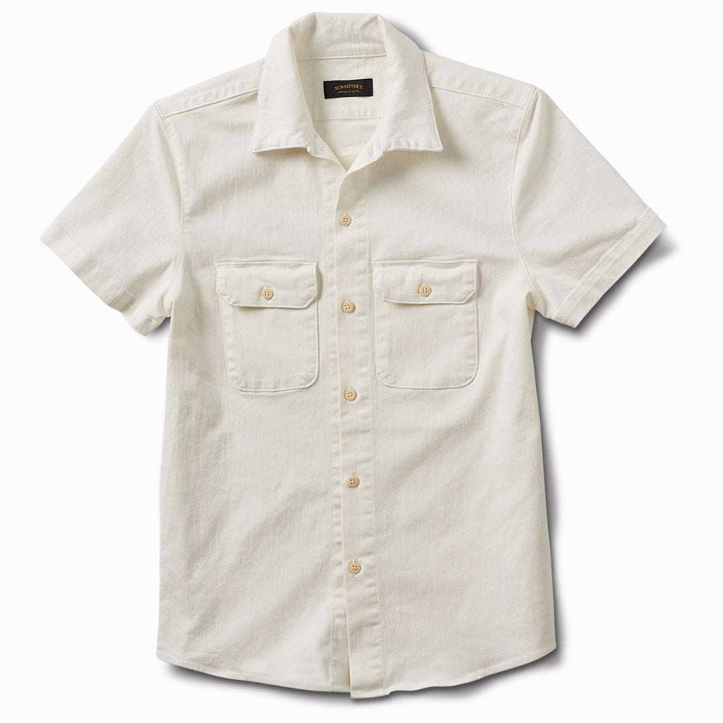 Gas Station Twill Button Down White