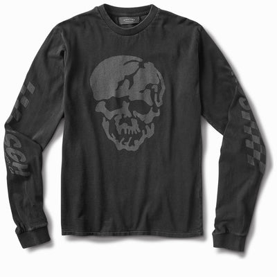 6ft under skull Long Sleeve - Black