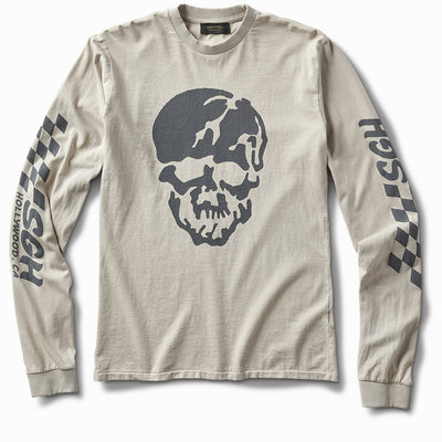 6ft under skull Long Sleeve - Parchment Grey