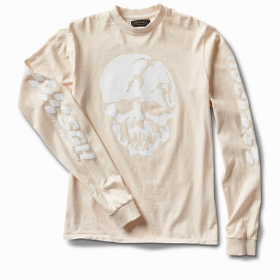 6ft under skull Long Sleeve - Pink Champagne