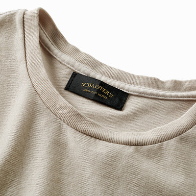 Ringspun Pocket Tee - Parchment Grey