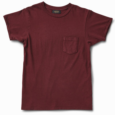 Ringspun Pocket Tee - Oxblood