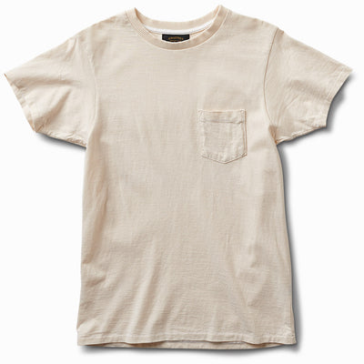 Thick Rib Pocket Tee - Natural
