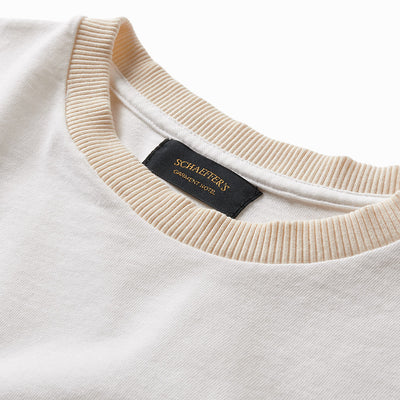 Thick Rib Pocket Tee - White