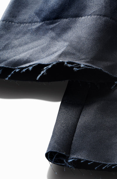 waxed indigo blue - tall slim