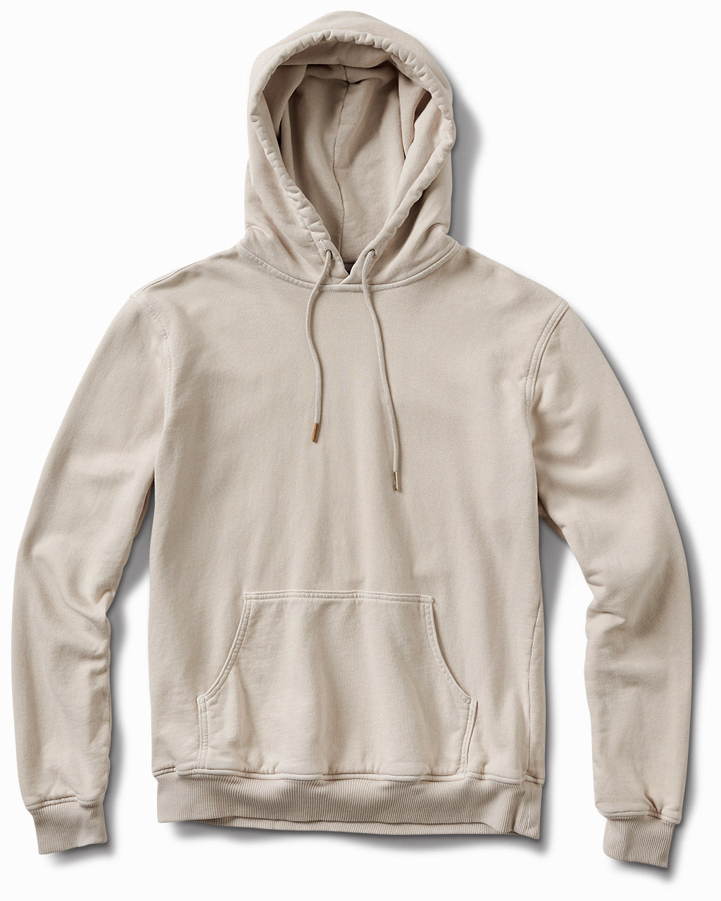 17oz French Terry Parchment Grey Distressed Hoodie