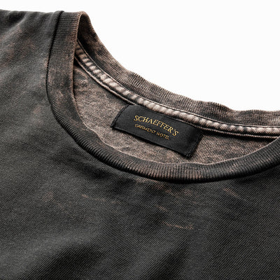 Ringspun Tee Mineral Wash - Aged Black