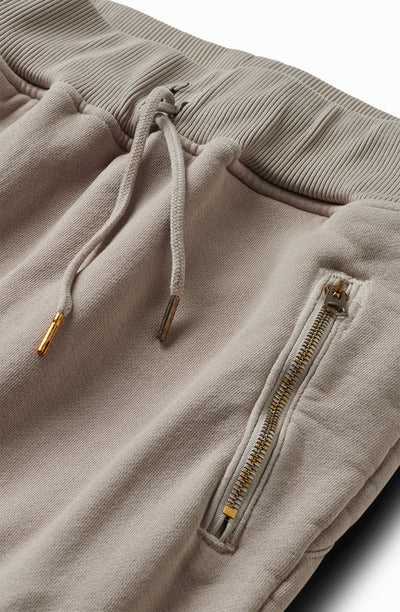 25oz French Terry Moto Sweatpants Parchment Grey
