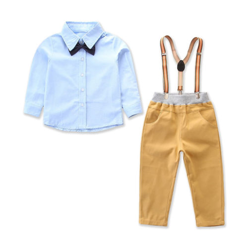 237ea59a5 Boy Gentleman Bowtie Suspender Pants Outfit Set – HelloSundayClothing