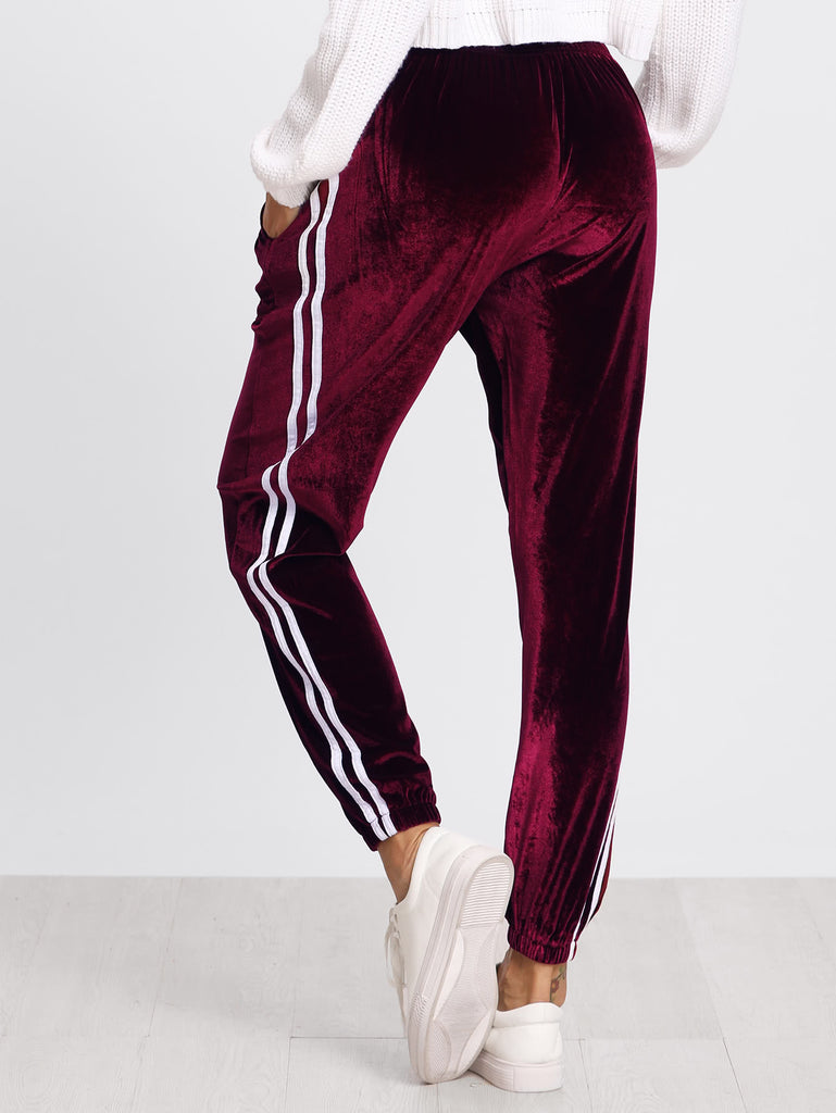 Tape Side Velvet Sweatpants