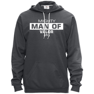 MIGHTY MAN OF VALOR Pullover Hooded Fleece