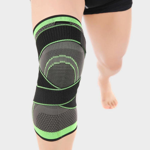 Sport Pressurized Knee Pad Support Brace - Green