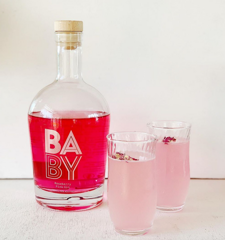 BABY Pink Gin Fizz | Created by Nabulani