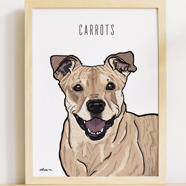 Custom Pet Illustration by Shae Illustrates