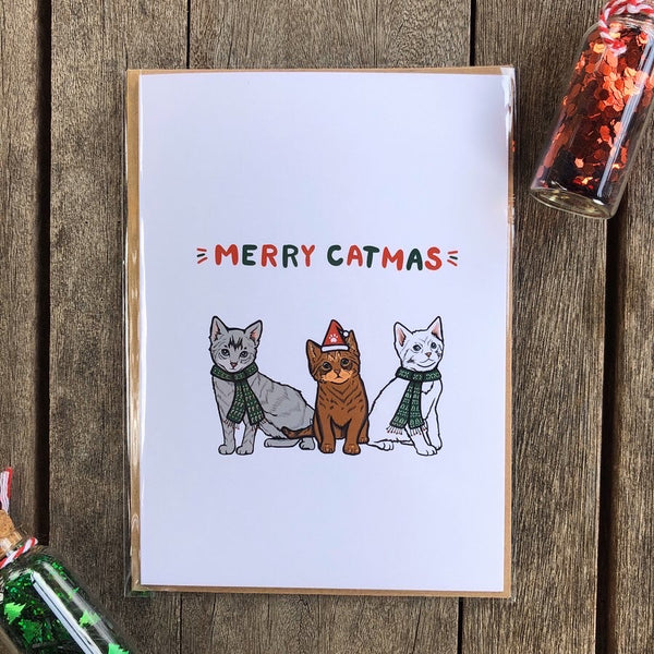 Merry Catmus Christmas Card