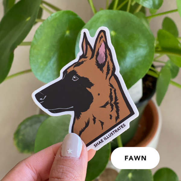 Belgian Malinois Sticker (Various Colors)