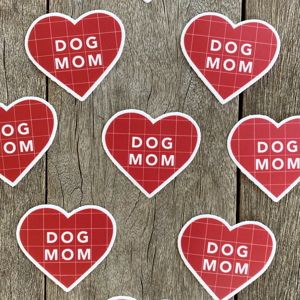 Dog Mom Sticker - Red