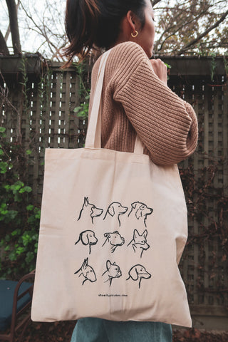 Dog Tote | Handmade/Screen-printed