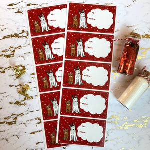 Christmas Gift Labels (10 stickers)