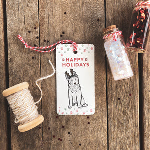 Christmas Gift Tags - Dog (5 tags)