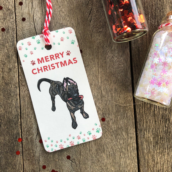 Christmas Gift Tags - Dutch Shepherd (5 tags)