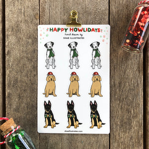 Happy Howlidays Sticker Sheet | Vinyl