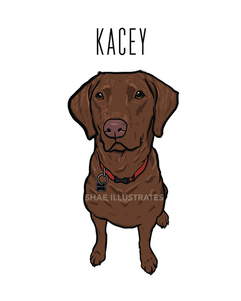 Custom Pet Portrait (1 Print)