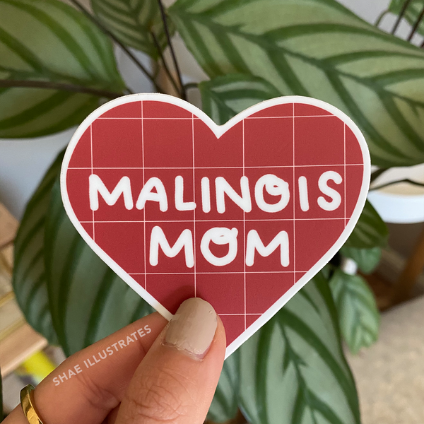 Malinois Mom Sticker