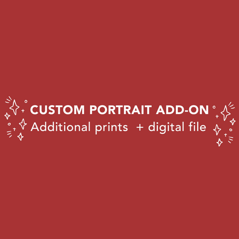 Add-on: Custom Pet Portrait + Digital File