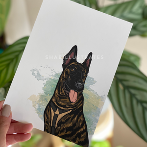 Dutch Shepherd Art Print
