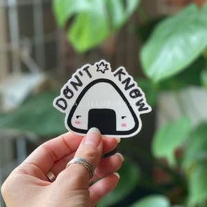 Don't know onigiri sticker